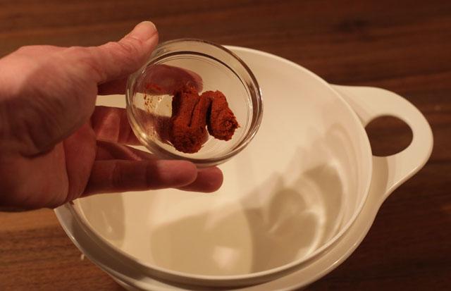 Die rote Currypaste...